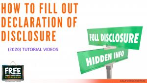 Video #10 - Declaration of Disclosure