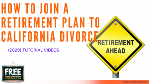 Video #18 - Getting Educated - Division of Retirement Assets PART 4