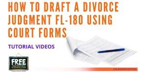 Video #42 - Divorce Judgment PART 3 (Judicial Council Forms Approach)