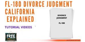 Video #43 - Divorce Judgment PART 4 (FL-180 Judgment Form)