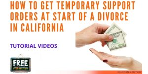 Video #54 - Contested Divorce PART 4 (Obtaining Temporary Support Orders and Attorney Fees)