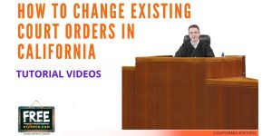 Video #62 - Modifying an Existing Court Order PART 1 (Introduction)