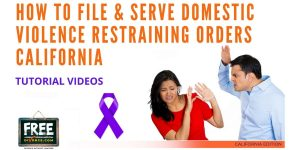 Video #69 - Domestic Violence Restraining Orders PART 4 (Filing in Court & Serving the Other Party)