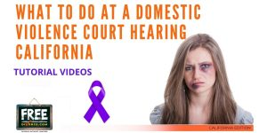 Video #71 - Domestic Violence Restraining Orders PART 6 (Attending the Hearing)